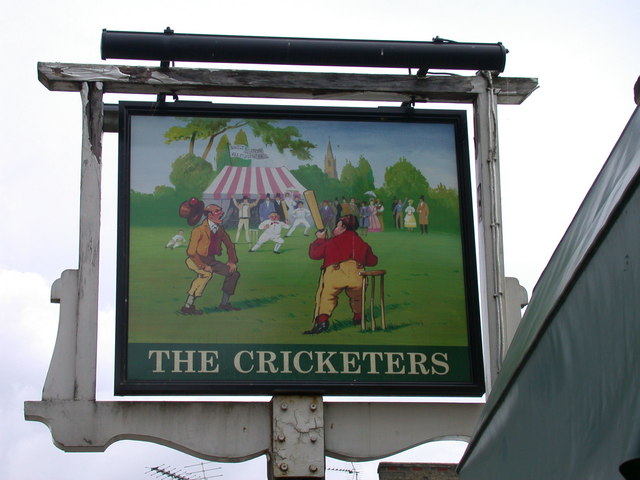 The Cricketers - sign