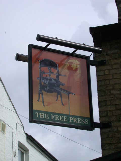 The Free Press - sign