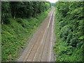 SU9790 : Railway beneath Potkiln Lane Bridge by Shaun Ferguson