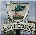 SK6413 : East Goscote village sign by Mat Fascione