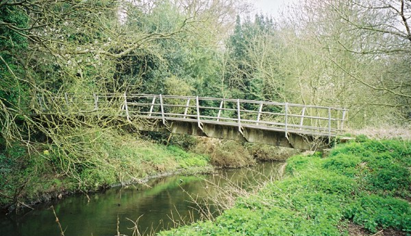 Footbridge over River Sowe by Whitley Grove