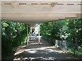 SZ0895 : Redhill: under the footbridge by Chris Downer