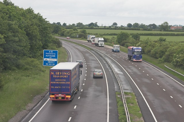 The A19 from the A170 overpass
