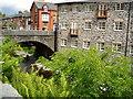 SN9584 : River Severn,Short bridge.Llanidloes. by kevin skidmore