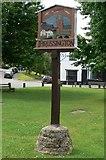 SK6415 : Thrussington village sign by Mat Fascione