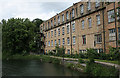 SK5164 : Pleasley Mills, top mill west front by Alan Murray-Rust