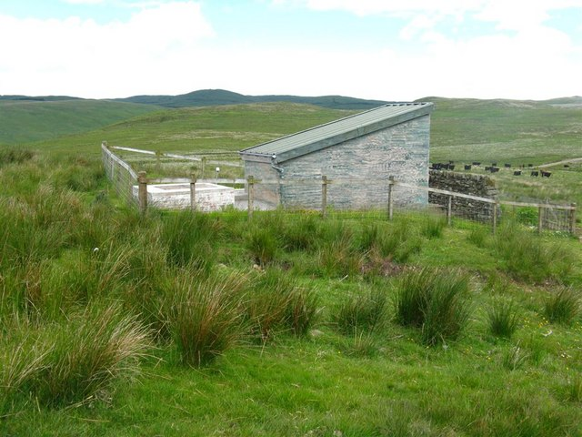Camouflaged building in Eskdalemuir
