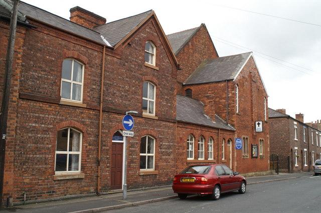 Wigan Baptist Church-main entrances