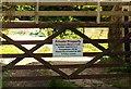SX8560 : Warning notice, Blagdon by Derek Harper