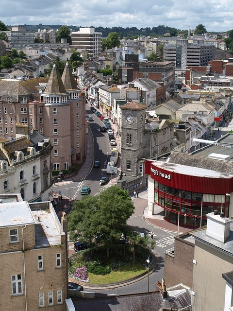Torquay town centre from above