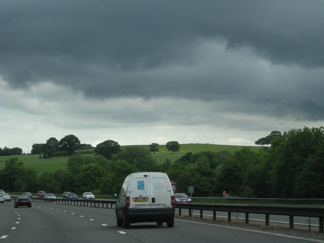 Stormy clouds gather over the M6