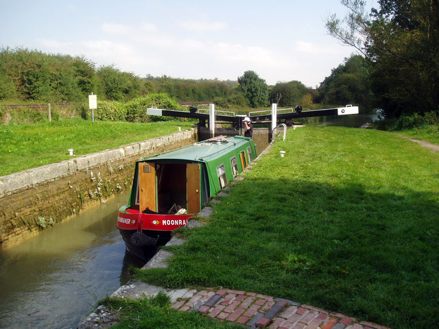 Ascending Froxfield Bottom Lock No 70, Kennet and Avon Canal