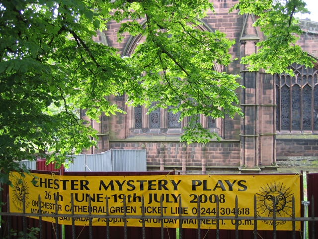 Chester Mystery Plays banner 2008