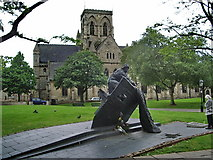 TA2609 : Memorial to Grimsby fishermen in the grounds of St James Church by Alexander P Kapp