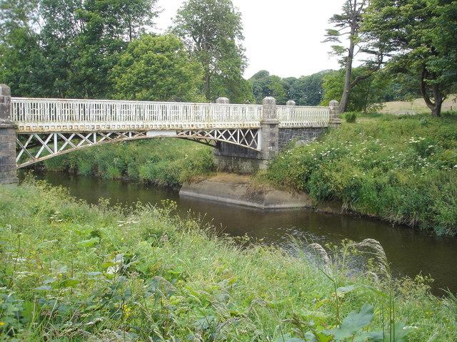 Bridge on the river Bush