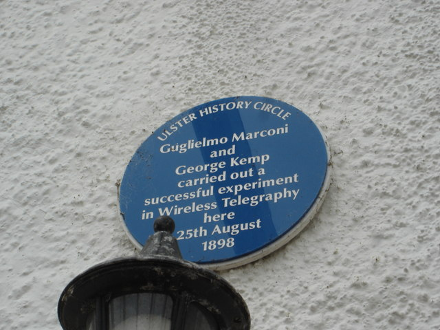 Photo of Guglielmo Marconi and George Kemp blue plaque