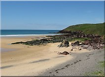 SM8800 : Northern end of Freshwater West beach and Gravel Bay by Colin Bell