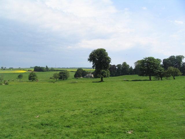View across site of medieval village of Biscathorpe