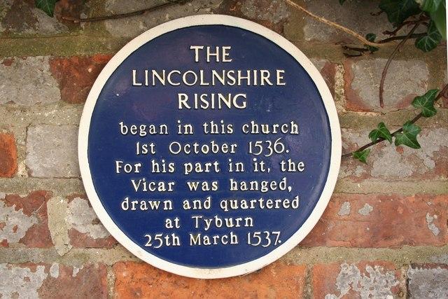 Lincolnshire Rising plaque