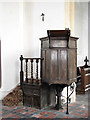 TG2227 : The church of SS Peter & Paul - C17 pulpit by Evelyn Simak