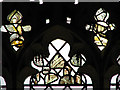 TG2227 : The church of SS Peter & Paul - fragments of medieval glass by Evelyn Simak