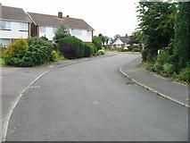 TR3156 : Looking SE along Woodland Way, Woodnesborough by Nick Smith