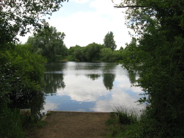 Summer view of lake at Milton Country Park
