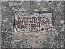 N7098 : Plaque on Lisball National School, Co. Cavan by Kieran Campbell
