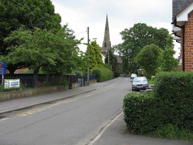 Church Eaton - High Street and village church