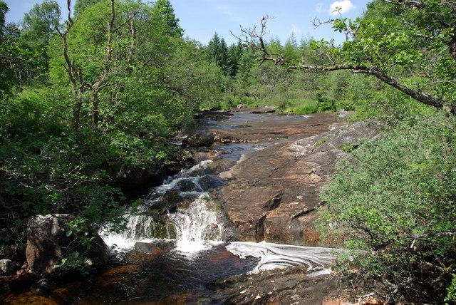 Abhainn Dalach viewed from suspension bridge