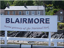 NS1981 : Blairmore Pier Sign by Willie Mair