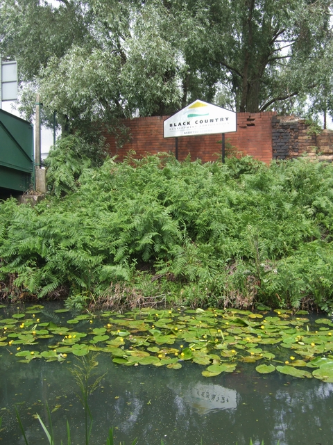 Signboard beside the Walsall Canal