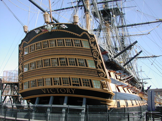 The stern of HMS Victory