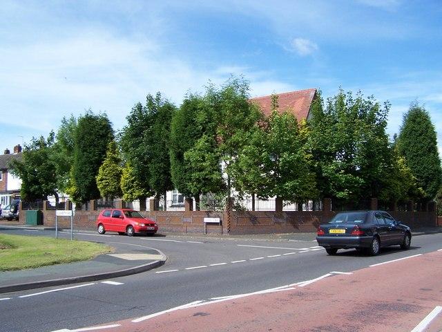 Elizabeth Avenue,Junction with Goldthorn Hill Road.