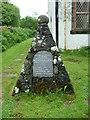 NM4339 : The war memorial in St Ewen's churchyard on Ulva by Dave Napier