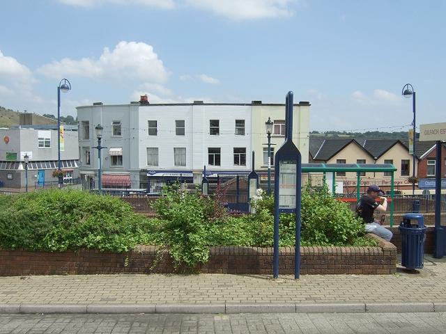 Bargoed Bus Station & Trafalgar Buildings