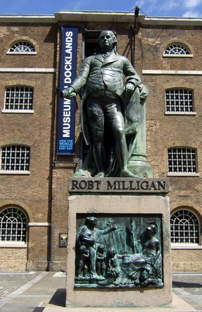 Robert Milligan outside the Docklands Museum