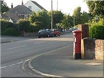SZ0795 : East Howe: postbox № BH10 343, Kinson Road by Chris Downer