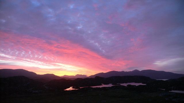 Sunset Over Lewis and Loch Drinisiadar