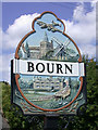 TL3256 : Bourn Village Sign - detail by Keith Edkins