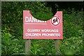 NZ0718 : Danger sign by Graham Horn