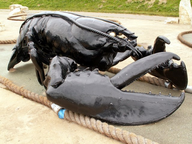 A Giant Lobster Sculpture on Filey Seafront