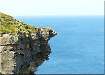 """ND2076 : Cliff  """"features"""" at Dunnet Head by sylvia duckworth"""