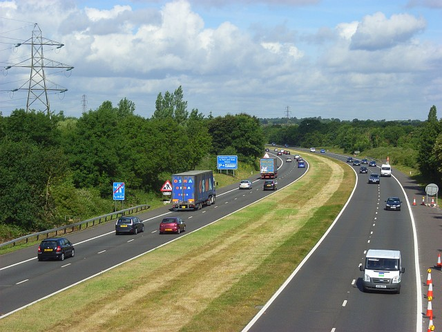 The A329(M), Winnersh