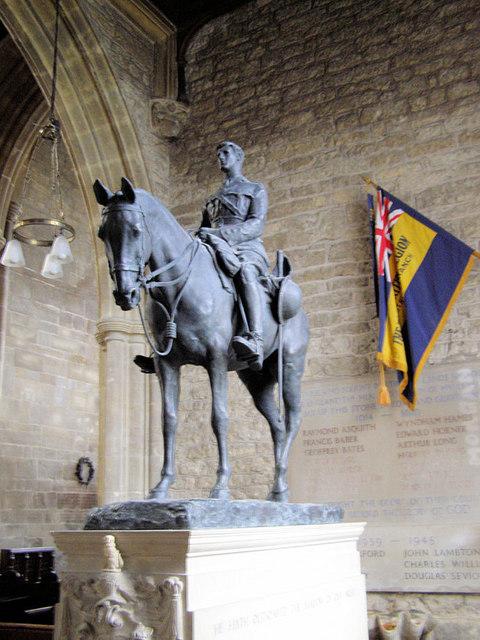 Memorial to Edward Horner, St Andrew's Church, Mells, Somerset