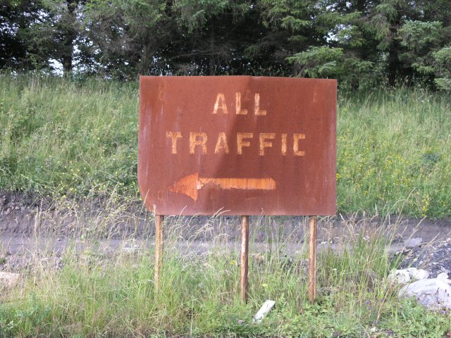 Decaying sign