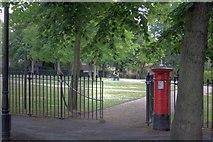 SK5639 : Post Box, The Park by Mick Garratt