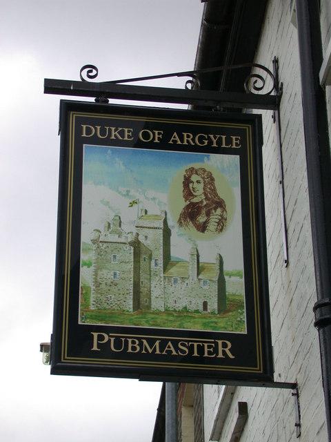 The Duke of Argyle - sign