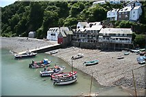 SS3124 : Clovelly Harbour by Richard Croft
