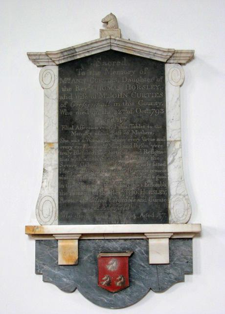The church of SS Peter & Paul - C18 memorial